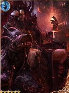 Hades and Cerberus, Wiki card, Some entymologists believe that Cerberus is a cognate of the Sanskrit word for spotted. So Hades has a dog named Spot.