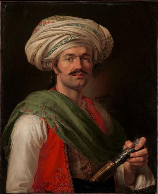 Roustam Raza, Napoleon's Mamluk body guard, oil on canvas by Émil Jean Horace Vernet, 1789-1863